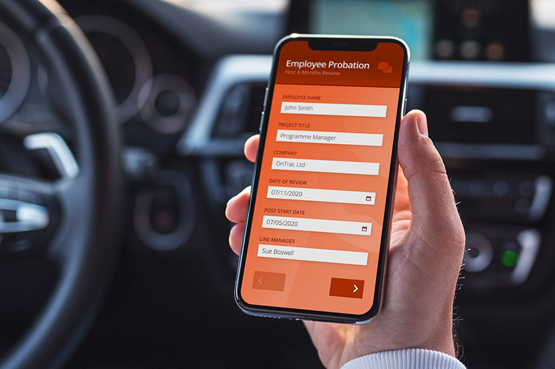 OnTrac Ltd's HR Probation Review App - built with Nutshell